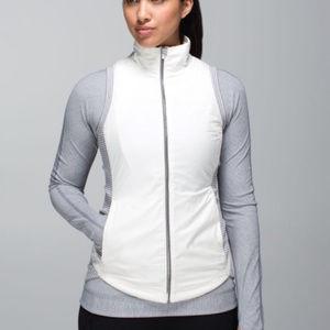 Lululemon rebel runner vest white gray striped